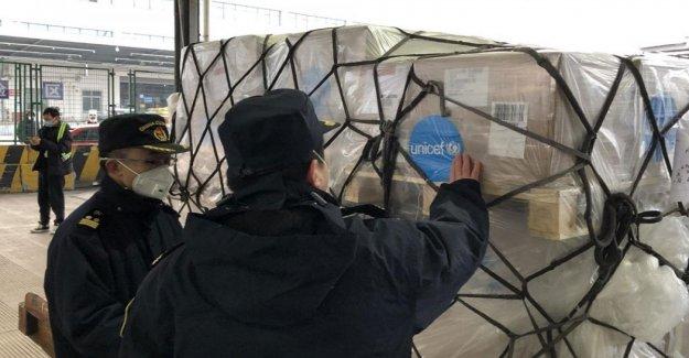 Un camión lleno de máscaras para Italia: esta es la primera de una serie de medidas a ser implementadas