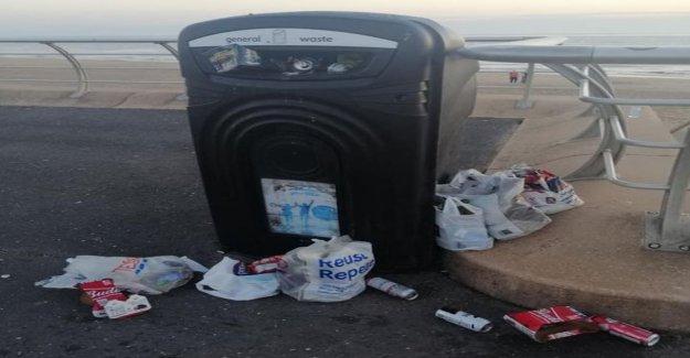 Day tripper 'oleada' de las causas de la playa problema de la basura