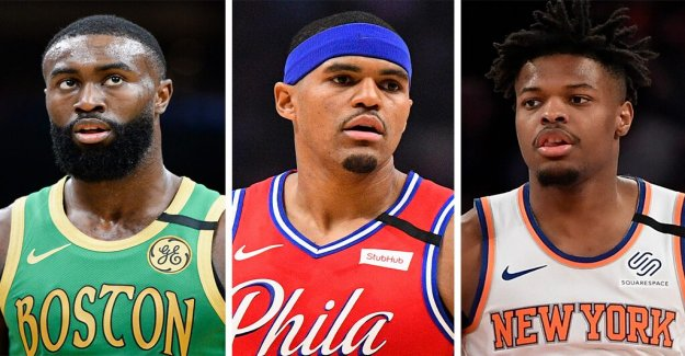 Los Celtics' Jaylen Brown, los 76ers' Tobias Harris, de los Knicks' Dennis Smith, hijo, entre las estrellas de la NBA en George Floyd protestas