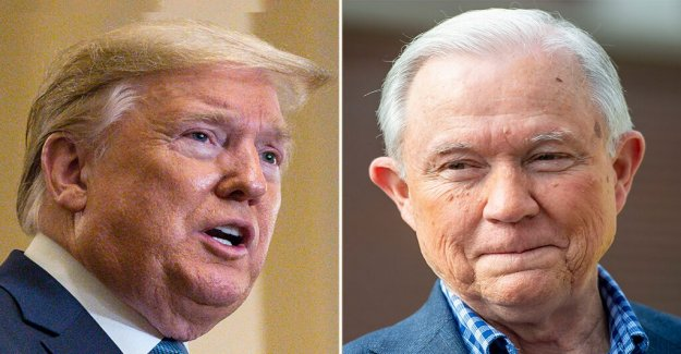 Trump rip Jeff sessions, de espaldas a su Senado de escorrentía de oponente: Él deja que nuestro País'