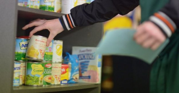 Banco de alimentos de parcelas para niños 'récord'