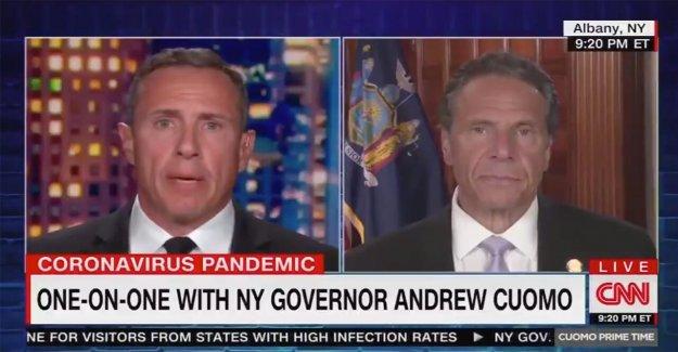 CNN Chris Cuomo fraternal lovefest con NY gov viene el último muerto en la 9 de la noche tiempo de la ranura