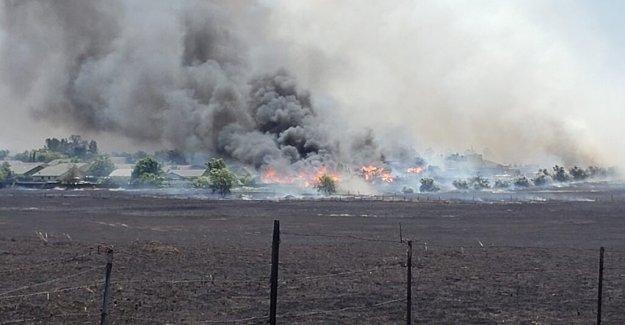 California wildfire destruye varias casas como la de Arizona blaze crece a más de 100.000 hectáreas