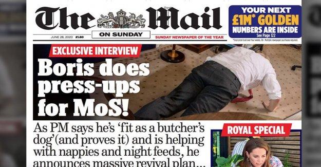 El PM británico Boris Johnson hace flexiones de brazos como prepara plan de recuperación del reino unido, afirma que el 'ajuste como un carnicero de perro'
