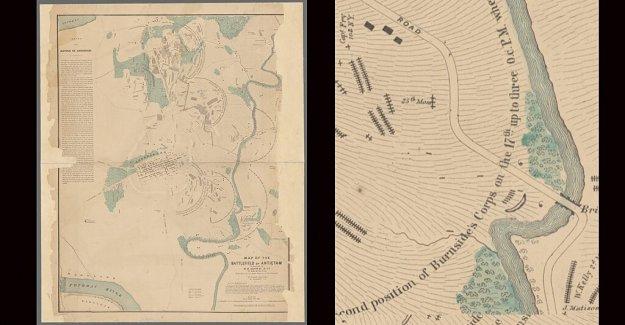 El descubrimiento de la Guerra Civil mapa arroja nueva luz sobre Antietam la sangrienta secuela