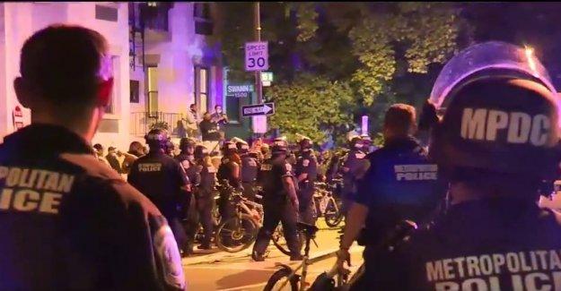 El parque de la Policía defiende las acciones de compensación a los manifestantes cerca de la Casa Blanca, dice que 'no utilización de gas lacrimógeno'