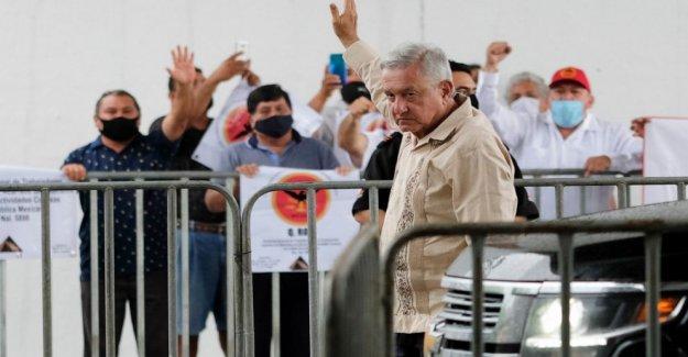 El presidente de méxico va a todo vapor con Maya de tren