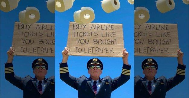 La aerolínea capitán pide a la gente que 'comprar billetes de avión' como 'compró papel higiénico'