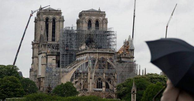 La catedral de Notre Dame de la entrada se abre al público después de mucho tiempo de limpieza