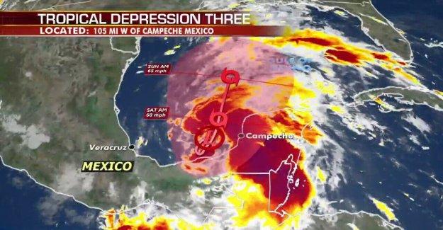 La depresión Tropical se forma en el Golfo de México, que amenazan la vida' la lluvia del sur de México, América Central