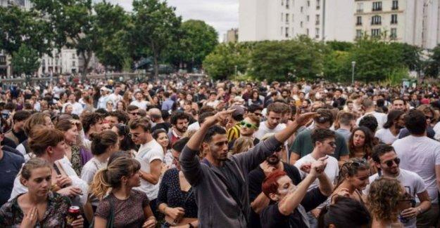 La francesa desafio de bloqueo con el festival de música anual