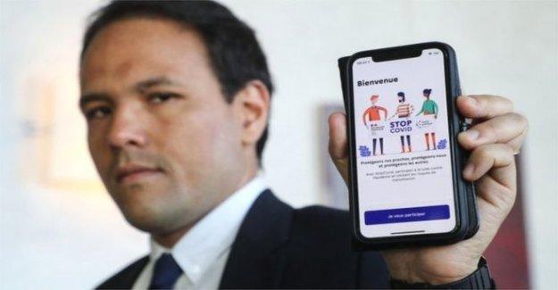 La francia de los virus de seguimiento de la aplicación 'un buen comienzo'