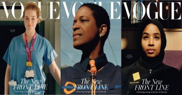Londres clave de trabajadores de la característica en la edición Británica de Vogue cubierta