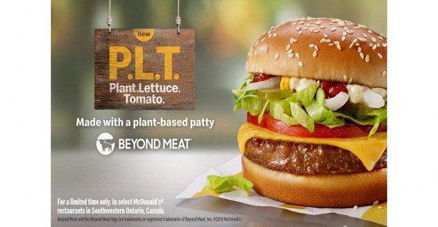 Mcdonald's tira más Allá de la Carne de P. L. T. hamburguesa de Canadá menús después de la fase de prueba