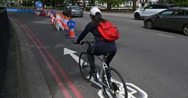 Pop-up de los carriles de bicicletas mantener a los nuevos ciclistas en la carretera?
