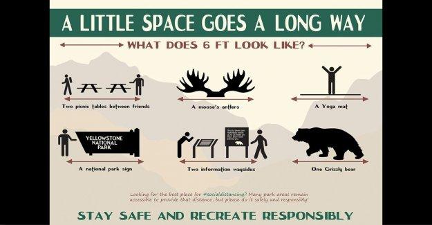 Servicio de parques nacionales de acciones nuevas y creativas de signos para promover el distanciamiento social