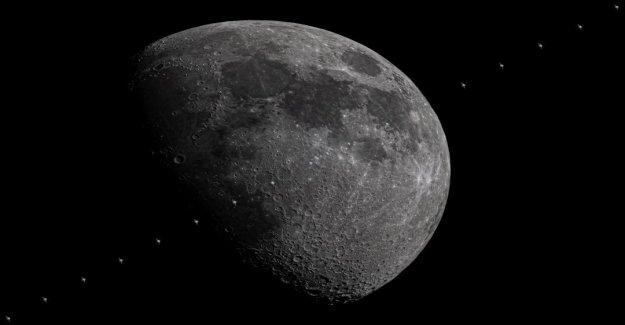 Siguientes histórico de la NASA misión de SpaceX, increíble muestra la imagen de la Estación Espacial Internacional cruce pasado de la luna