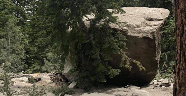 Terremoto en California desencadena deslizamiento de rocas, envía rocas estrellándose abajo en la zona de acampada