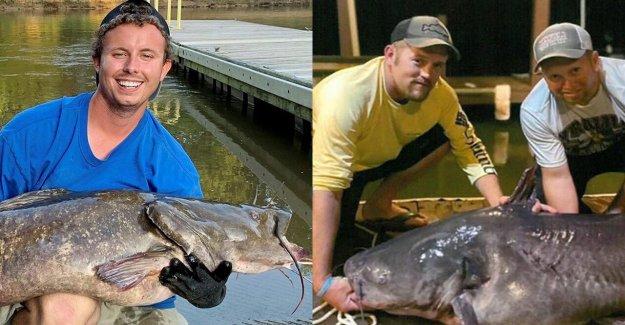 2 pescadores en el Norte de Carolina del gancho récord de bagre días de diferencia
