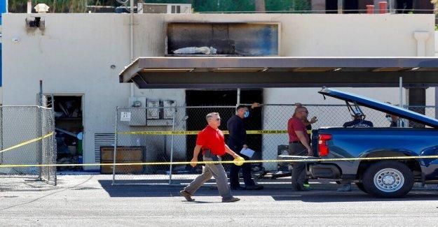 Arizona Partido Democrático de la construcción de la SEDE de fuego fue provocado, la policía dice que