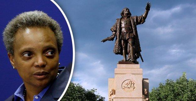 Chicago quita la estatua de Colón de Grant Park en los muertos de la noche: informes