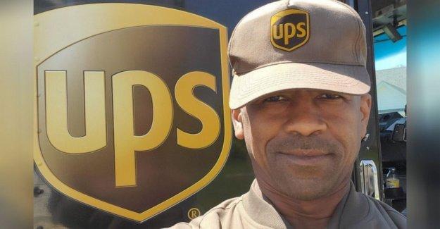 Conductor de UPS 'humillado' después de que los residentes en su ruta celebrar sus 13 años de servicio