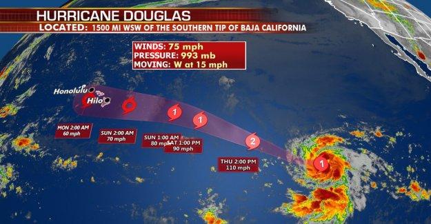 El huracán Douglas se convierte en la primera de la temporada en el Pacífico Oriental, Hawaii puede enfrentar los impactos del fin de semana