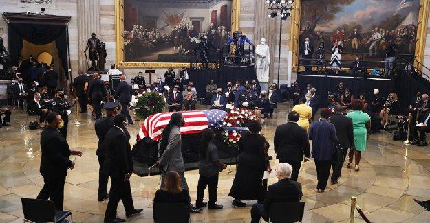 John Lewis funeral en el de martin luther king de la iglesia reúne a los ex presidentes de honor de los derechos civiles icono