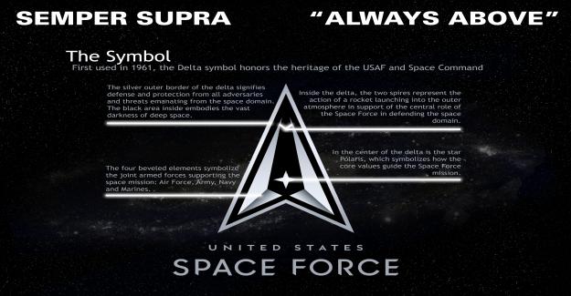 La Fuerza espacial revela delta y el logotipo de 'semper supra' lema