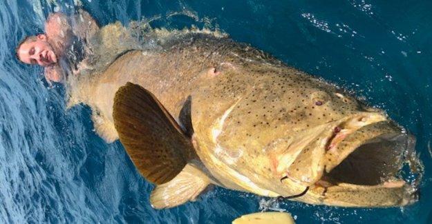 Masiva de peces tira 2 de la Florida de los pescadores fuera de barco y en el agua durante la lucha para recuperarlo en