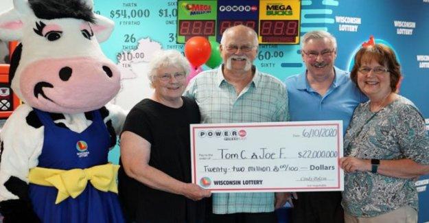 NOS premio mayor de la lotería compartido después de 1992 apretón de manos