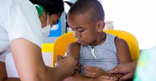 Niño vacunas caen abruptamente en medio de la pandemia