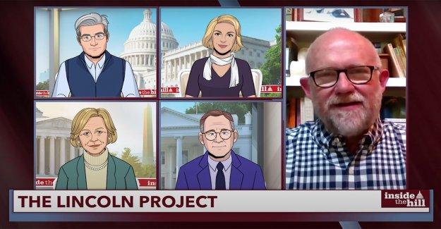 Rick Wilson, El Lincoln Proyecto retratado como timadores durante la entrevista en Colbert animado programa de noticias