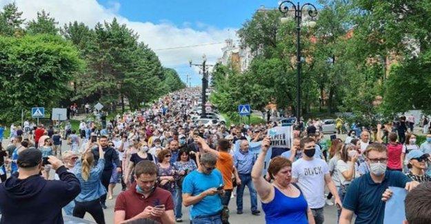 Rusia, el lejano oriente protesta por el gobernador de la detención del