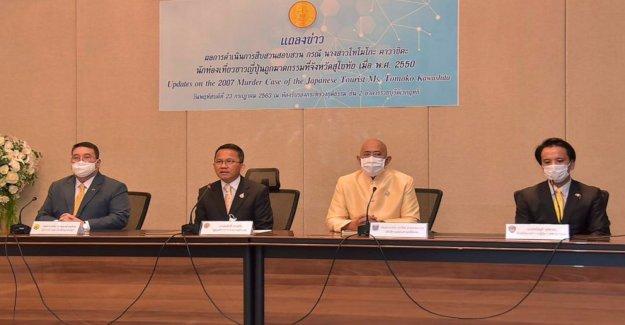 Tailandia reclamaciones avance en Japonés turístico caso de asesinato