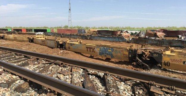 Tormenta eléctrica severa vientos en Texas descarrilar 86 coches en el tren, causa significativos del daño