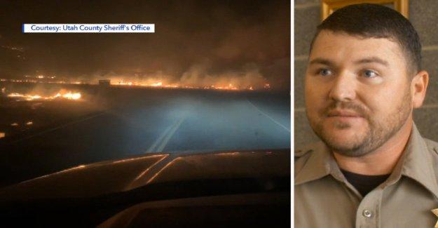 Utah diputado de honor para el rescate de 2 personas durante un reguero de pólvora que eran 'corriendo por sus vidas'