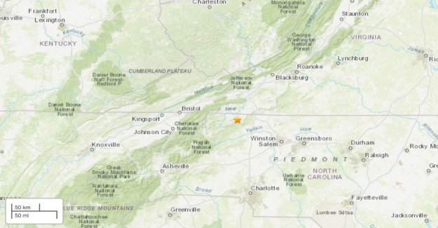 5.1 terremoto de magnitud reportado cerca de Carolina del Norte, Virginia frontera