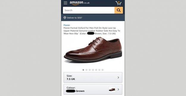 Amazon quita el zapato con la discriminación racial mancha en la descripción del producto