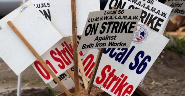 Astillero, de la unión de la tentativa de llegar a acuerdo para poner fin a la huelga en el estado de Maine