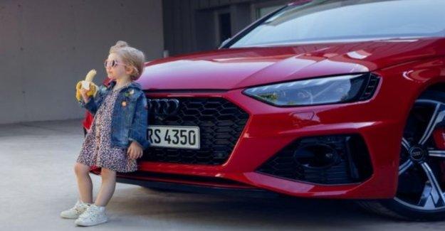 Audi gotas 'insensibles' chica con plátano ad