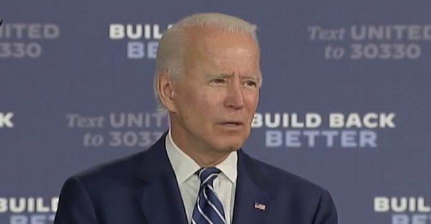Biden afirma que él ha escogido un compañero, entonces las grietas de una broma