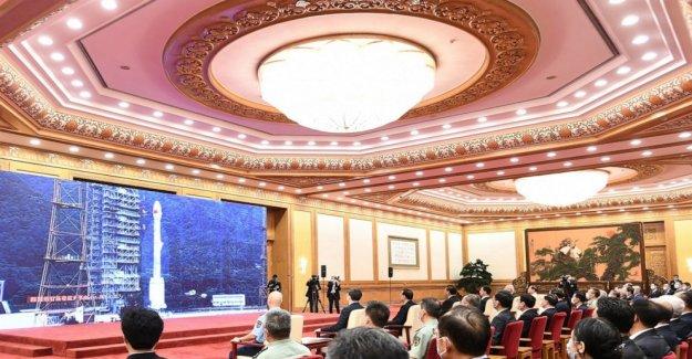 China celebra la finalización de su rival sat sistema de navegación