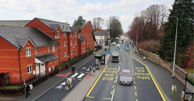 Ciclo ruta de plan de estacionamiento perjudicial para los estudiantes