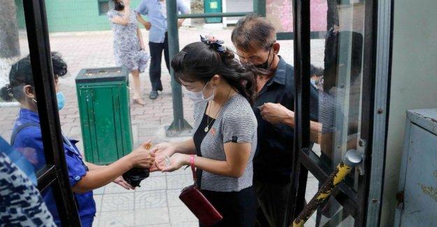 Corea del norte ascensores de bloqueo de seguridad en la ciudad, rechaza la inundación, el virus de la ayuda
