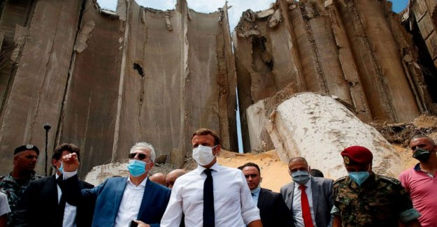 Después de Beirut explosión, los manifestantes declararse con el presidente francés, para el cambio
