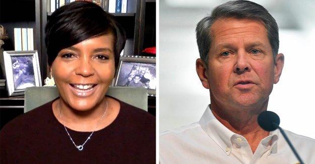 El gobernador de Georgia, las gotas de la demanda contra el alcalde de Atlanta, más de máscara de mandato