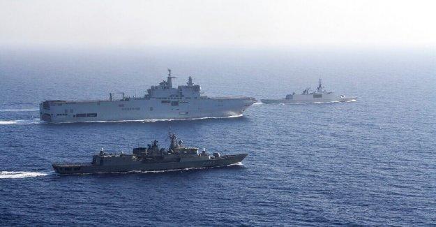 Francia envía tropas en el este del Mediterráneo a calmar las tensiones entre Grecia, Turquía