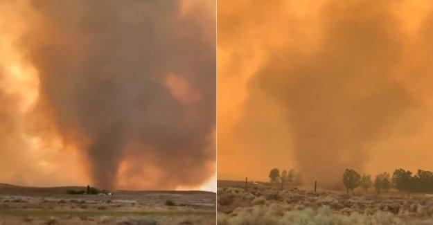 Fuego de advertencia de tornado apretones de California como un reguero de pólvora explota con extremadamente peligrosos condiciones del norte de Tahoe