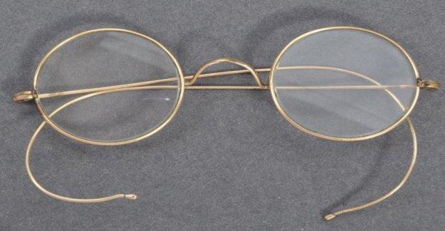 Gandhi gafas de izquierda en Bristol letterbox